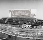 Panoramica Brescia dopo abbattimento mura venete - inizio 900