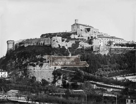 Colle Cidneo e Castello di Brescia - Fine Ottocento