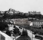 Salita in Castello con il Tram elettrico nel 1904