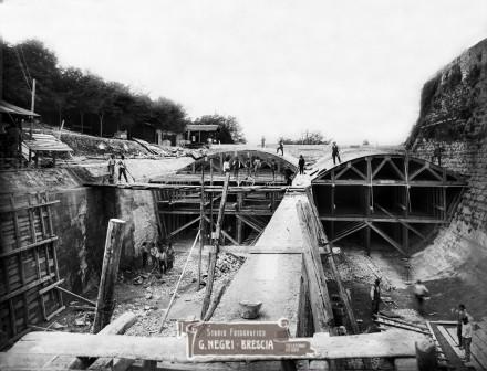 Il serbatoio Fossa di Brescia nel 1913