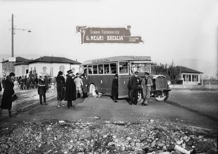Primo autobus su gomme a Brescia nel 1932