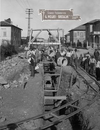 Brescia 1929 - La prima rete fognaria urbana